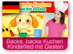 Kinderlied mit Gesten - Backe, backe Kuchen