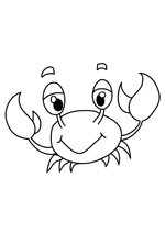 Coloriage animaux le crabe