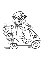 Coloriage Le petit scooter