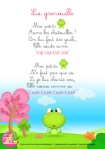 Paroles_La comptinette de le grenouille