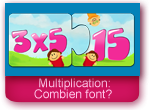 Jeu: les tables de multiplication