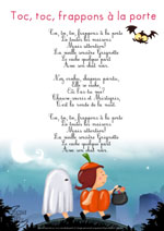 Paroles_Toc, toc, frappons à la porte (chanson d'Halloween)